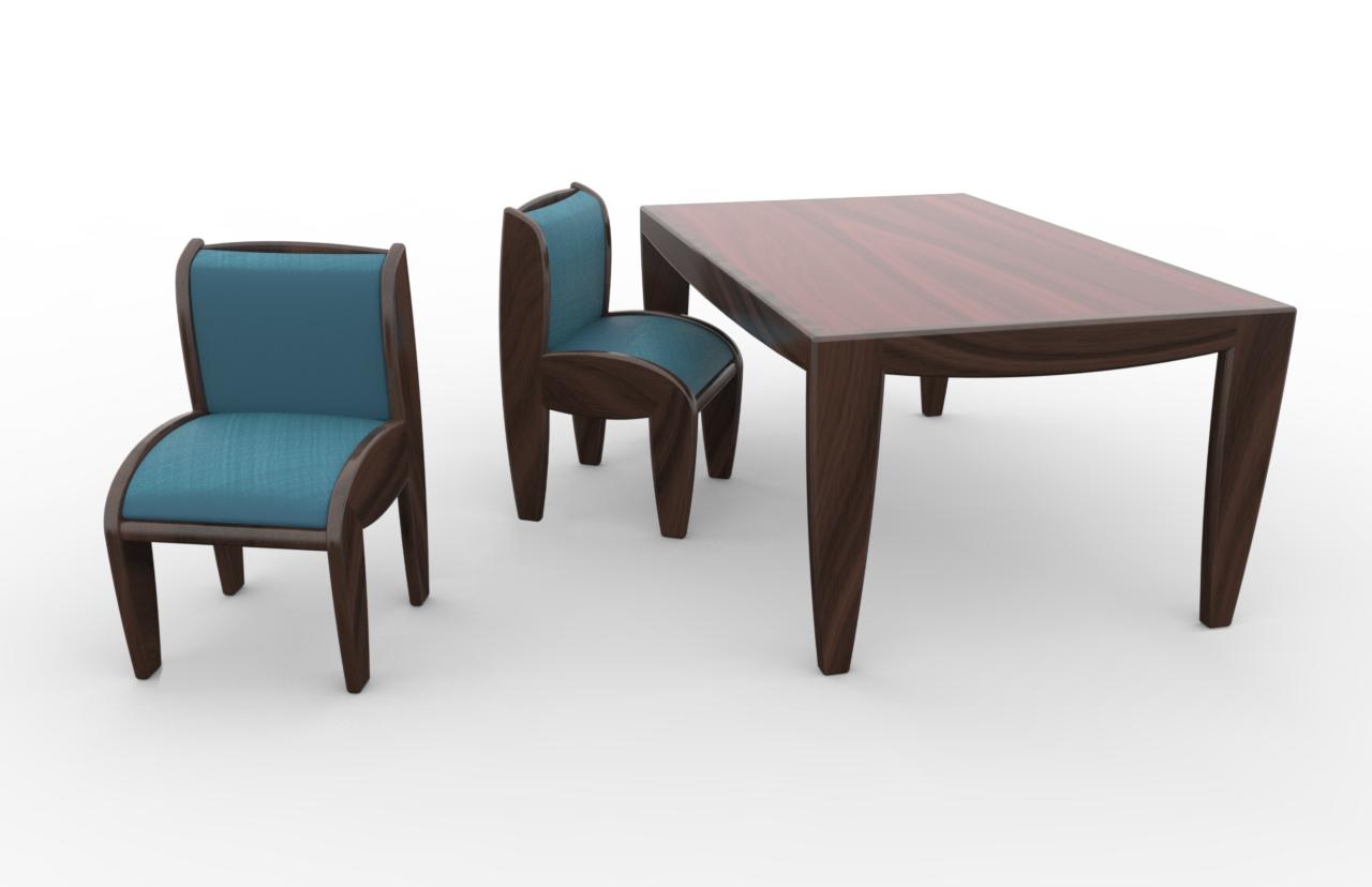 sedia e tavolo Botero