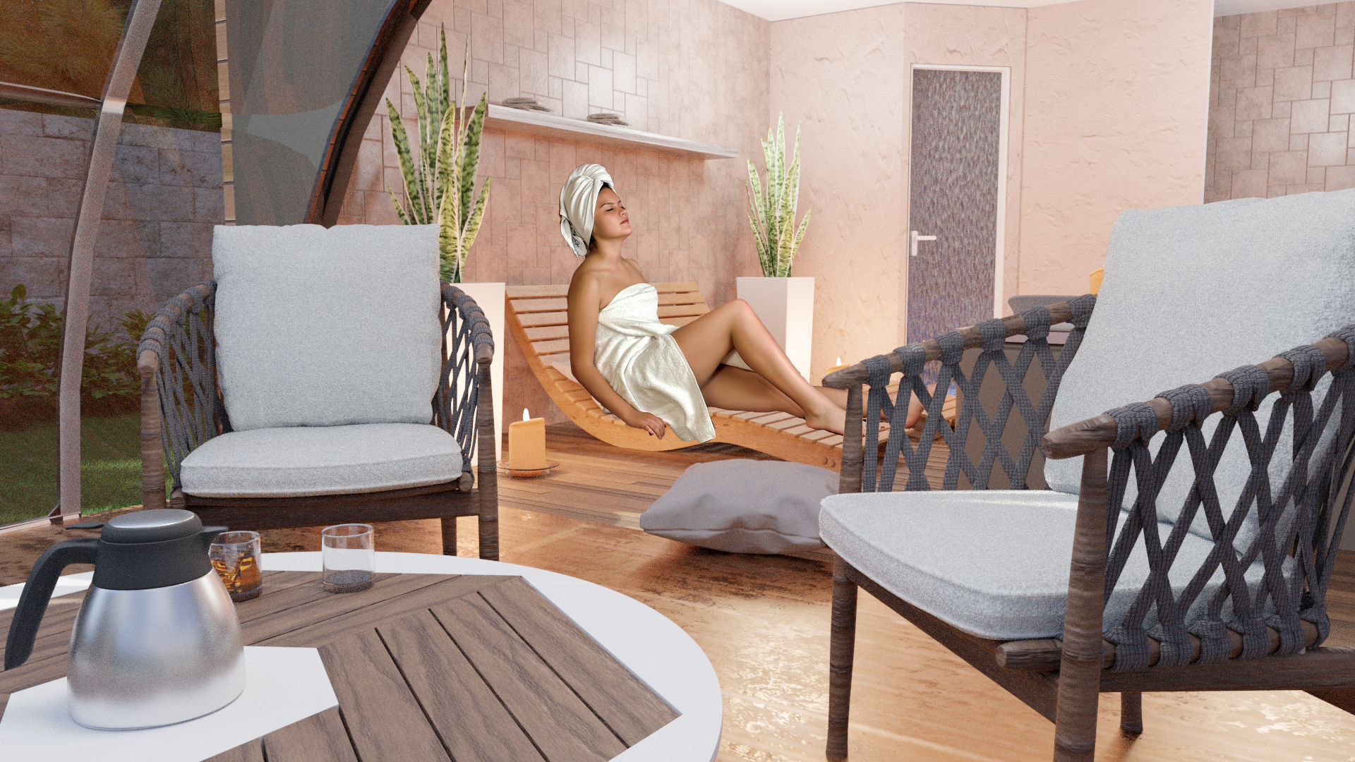 Interior mini spa